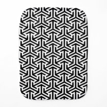 black and white geometrical modern pattern baby burp cloth