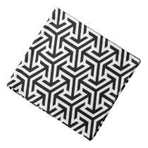 black and white geometrical modern pattern bandana