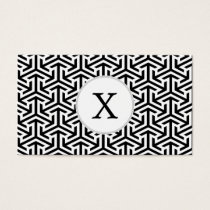 black and white geometrical modern pattern business card