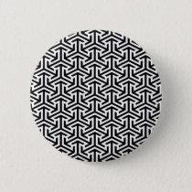 black and white geometrical modern pattern button
