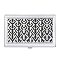 black and white geometrical modern pattern case for business cards