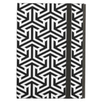 black and white geometrical modern pattern case for iPad air