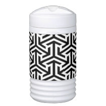 black and white geometrical modern pattern cooler