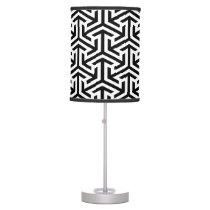 black and white geometrical modern pattern desk lamp