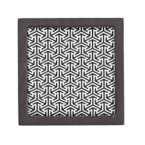 black and white geometrical modern pattern gift box