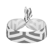 black and white geometrical modern pattern hair tie