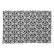 black and white geometrical modern pattern kitchen towel
