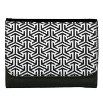 black and white geometrical modern pattern leather wallets