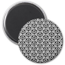 black and white geometrical modern pattern magnet