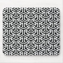 black and white geometrical modern pattern mouse pad