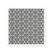 black and white geometrical modern pattern napkin