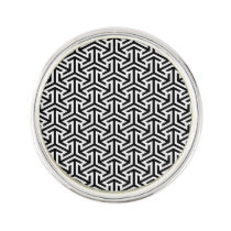 black and white geometrical modern pattern pin