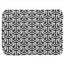 black and white geometrical modern pattern receiving blanket