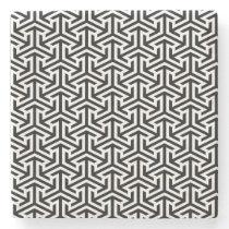 black and white geometrical modern pattern stone coaster