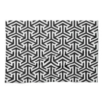 black and white geometrical modern pattern towel