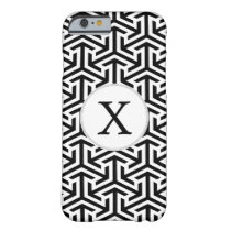 black and white geometrical pattern barely there iPhone 6 case