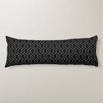 black and white geometrical pattern body pillow