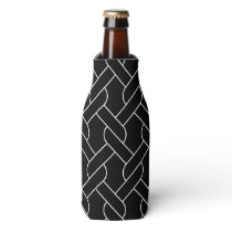 black and white geometrical pattern bottle cooler