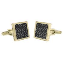 black and white geometrical pattern cufflinks