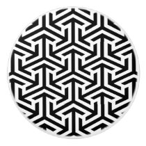 black and white geometrical pattern door knob