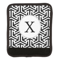 black and white geometrical pattern handle wrap
