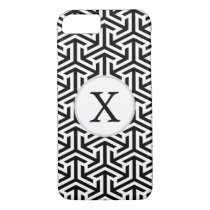 black and white geometrical pattern iPhone 8/7 case