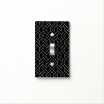 black and white geometrical pattern light switch cover