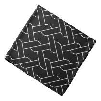 black and white geometrical pattern modern print bandana