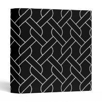 black and white geometrical pattern modern print binder