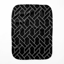 black and white geometrical pattern modern print burp cloth