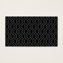 black and white geometrical pattern modern print business card