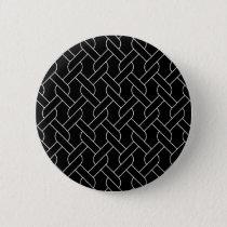 black and white geometrical pattern modern print button