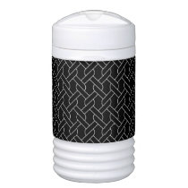 black and white geometrical pattern modern print cooler