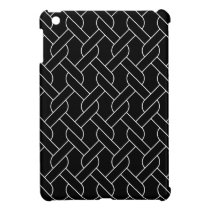 black and white geometrical pattern modern print cover for the iPad mini