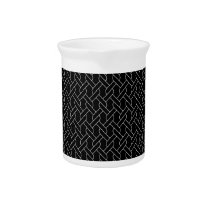 black and white geometrical pattern modern print drink pitcher