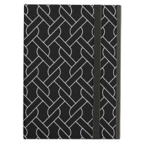 black and white geometrical pattern modern print iPad air cover