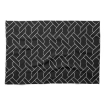 black and white geometrical pattern modern print kitchen towel