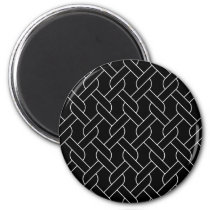 black and white geometrical pattern modern print magnet