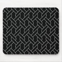 black and white geometrical pattern modern print mouse pad