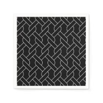 black and white geometrical pattern modern print paper napkin