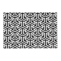 black and white geometrical pattern modern print placemat