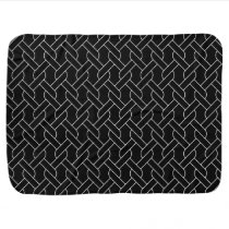 black and white geometrical pattern modern print swaddle blanket
