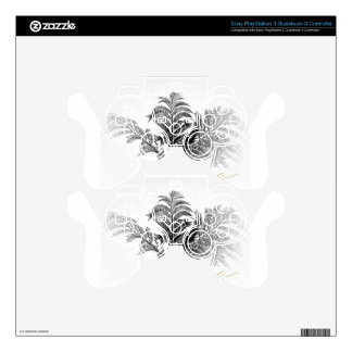 Black and white gifts PS3 controller skin