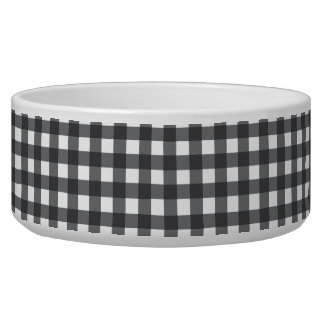 Black and White Gingham Bowl