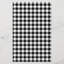 Black and White Gingham Checks