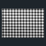 """Black and White Gingham Checks Cloth Placemat<br><div class=""""desc"""">The classic gingham pattern appears here in black and white squares. The checked design gives a classy and elegant look,  perfect for yourself or for any gift recipient!</div>"""