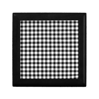Black and White Gingham Checks Gift Box