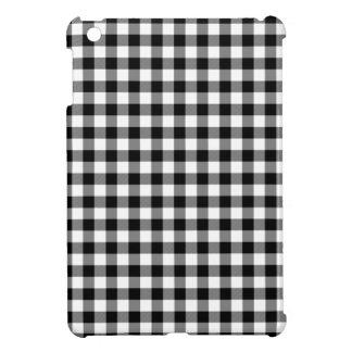 Black and White Gingham Checks iPad Mini Cover