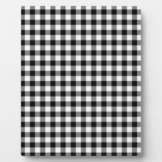 Black and White Gingham Checks Plaque