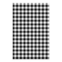 Black and White Gingham Checks Stationery